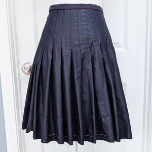 Ted Baker London navy pleated a-line skirt